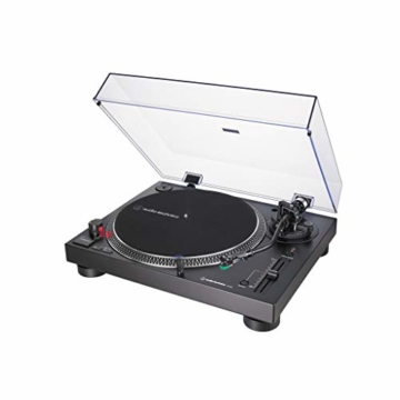 Audio-Technica AT-LP120X direktangetriebener Plattenspieler (Analog und USB) schwarz - 1