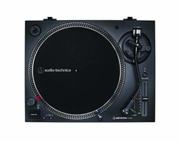 Audio-Technica AT-LP120X direktangetriebener Plattenspieler (Analog und USB) schwarz - 3