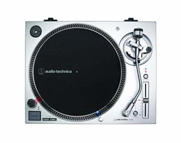 Audio-Technica AT-LP120X direktangetriebener Plattenspieler (Analog und USB) silber - 2