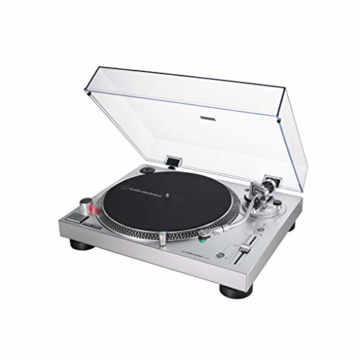 Audio-Technica AT-LP120X direktangetriebener Plattenspieler (Analog und USB) silber - 3