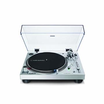 Audio-Technica AT-LP120X direktangetriebener Plattenspieler (Analog und USB) silber - 1