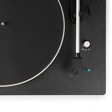 Blaupunkt TT 100 C Plattenspieler mit Deckel, gefederte Stand-Füße, Plattenspieler Retro mit Audio Technica MM System, Turntable, 2 Geschwindigkeiten, Abschaltautomatik, Antiskating, Riemen-Antrieb - 3
