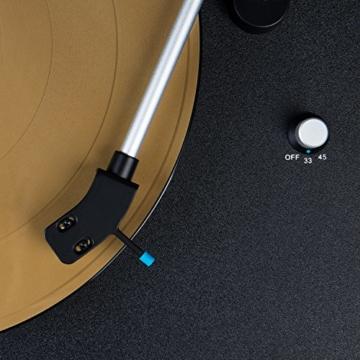Blaupunkt TT 100 C Plattenspieler mit Deckel, gefederte Stand-Füße, Plattenspieler Retro mit Audio Technica MM System, Turntable, 2 Geschwindigkeiten, Abschaltautomatik, Antiskating, Riemen-Antrieb - 5