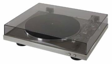 Denon DP-300 F Vollautomatischer Plattenspieler (Riemenantrieb, integrierter Vorverstärker) premium silber - 2