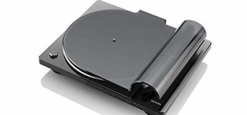 Denon DP450USBBKEM Plattenspieler (USB Aufnahme, Riemenantrieb, Tonarmlift, eingebauter Vorverstärker, S-Tonarm) Schwarz - 3