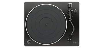 Denon DP450USBBKEM Plattenspieler (USB Aufnahme, Riemenantrieb, Tonarmlift, eingebauter Vorverstärker, S-Tonarm) Schwarz - 4