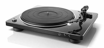 Denon DP450USBBKEM Plattenspieler (USB Aufnahme, Riemenantrieb, Tonarmlift, eingebauter Vorverstärker, S-Tonarm) Schwarz - 1