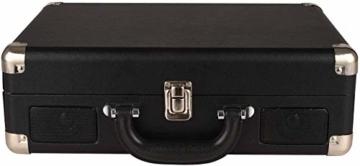 DIGITNOW! Belt-Drive 3-Gang-Portable Stereo-Plattenspieler mit eingebauten Lautsprechern, unterstützt RCA-Ausgang / 3,5 mm Aux-In/Kopfhöreranschluss / MP3, Mobiltelefone Musikwiedergabe - 6