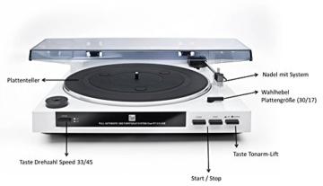 Dual DT 210 USB Schallplattenspieler (USB-Anschluss, 33/45 U/min) schwarz - 2