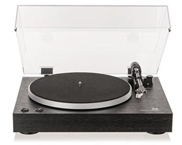 Dual DT 450 manueller Plattenspieler (Riemenantrieb, Holz-Gehäuse, 33/45 U/min, Magnet-Tonabnehmer System) Schwarz - 4