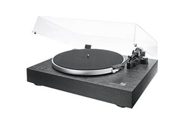 Dual DT 450 manueller Plattenspieler (Riemenantrieb, Holz-Gehäuse, 33/45 U/min, Magnet-Tonabnehmer System) Schwarz - 1
