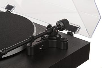 Dual DT 450 manueller Plattenspieler (Riemenantrieb, Holz-Gehäuse, 33/45 U/min, Magnet-Tonabnehmer System) Schwarz - 5
