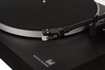 Dual DT 450 manueller Plattenspieler (Riemenantrieb, Holz-Gehäuse, 33/45 U/min, Magnet-Tonabnehmer System) Schwarz - 6