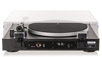 Dual DT 450 manueller Plattenspieler (Riemenantrieb, Holz-Gehäuse, 33/45 U/min, Magnet-Tonabnehmer System) Schwarz - 8