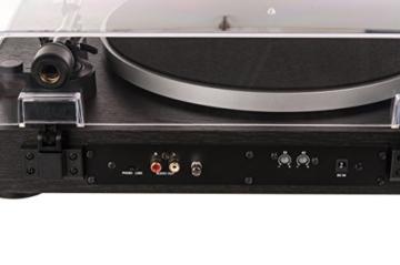 Dual DT 450 manueller Plattenspieler (Riemenantrieb, Holz-Gehäuse, 33/45 U/min, Magnet-Tonabnehmer System) Schwarz - 9