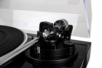 Dual DT 500 USB HiFi-Plattenspieler (33/45 U/min, Magnet-Tonabnehmer-System, USB-Anschluss, Holz-Gehäuse mit Hochglanz Lackierung) schwarz - 3