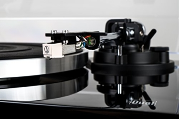 Dual DT 500 USB HiFi-Plattenspieler (33/45 U/min, Magnet-Tonabnehmer-System, USB-Anschluss, Holz-Gehäuse mit Hochglanz Lackierung) schwarz - 4