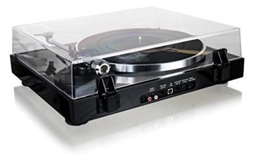 Dual DT 500 USB HiFi-Plattenspieler (33/45 U/min, Magnet-Tonabnehmer-System, USB-Anschluss, Holz-Gehäuse mit Hochglanz Lackierung) schwarz - 5