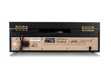 Dual NR 110 Kompaktanlage mit Schallplattenspieler (CD-Player, MP3, PLL-UKW-Radio, Riemenantrieb, 20 Senderspeicherplätze, Direct-Encoding, 3,5 mmm) schwarz - 2