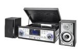 Dual NR 110 Kompaktanlage mit Schallplattenspieler (CD-Player, MP3, PLL-UKW-Radio, Riemenantrieb, 20 Senderspeicherplätze, Direct-Encoding, 3,5 mmm) schwarz - 1