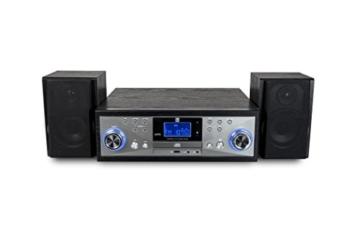 Dual NR 110 Kompaktanlage mit Schallplattenspieler (CD-Player, MP3, PLL-UKW-Radio, Riemenantrieb, 20 Senderspeicherplätze, Direct-Encoding, 3,5 mmm) schwarz - 4