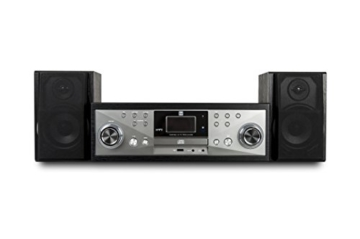 Dual NR 110 Kompaktanlage mit Schallplattenspieler (CD-Player, MP3, PLL-UKW-Radio, Riemenantrieb, 20 Senderspeicherplätze, Direct-Encoding, 3,5 mmm) schwarz - 5