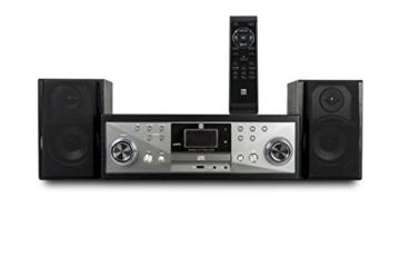 Dual NR 110 Kompaktanlage mit Schallplattenspieler (CD-Player, MP3, PLL-UKW-Radio, Riemenantrieb, 20 Senderspeicherplätze, Direct-Encoding, 3,5 mmm) schwarz - 7