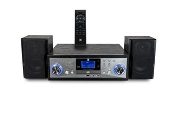 Dual NR 110 Kompaktanlage mit Schallplattenspieler (CD-Player, MP3, PLL-UKW-Radio, Riemenantrieb, 20 Senderspeicherplätze, Direct-Encoding, 3,5 mmm) schwarz - 8