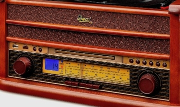 Dual NR 4 Nostalgie Musikanlage mit Plattenspieler (UKW-Tuner, MW-Radio, CD-RW, MP3, USB, Kassette, Aux-In) braun - 2
