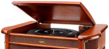 Dual NR 4 Nostalgie Musikanlage mit Plattenspieler (UKW-Tuner, MW-Radio, CD-RW, MP3, USB, Kassette, Aux-In) braun - 3