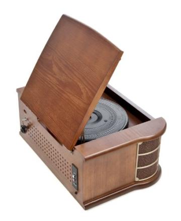 Dual NR 4 Nostalgie Musikanlage mit Plattenspieler (UKW-Tuner, MW-Radio, CD-RW, MP3, USB, Kassette, Aux-In) braun - 6