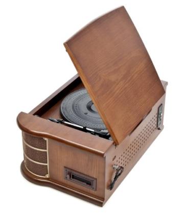Dual NR 4 Nostalgie Musikanlage mit Plattenspieler (UKW-Tuner, MW-Radio, CD-RW, MP3, USB, Kassette, Aux-In) braun - 8