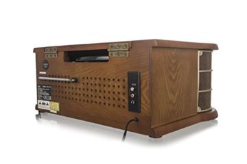 Dual NR 50 DAB Stereo-Nostalgie-Komplettanlage mit Plattenspieler (UKW/DAB(+) Radio, CD (MP3), USB, Kassettenabspieler, AUX-In, Direct-Encoding-Funktion, Fernbedienung) Braun - 2