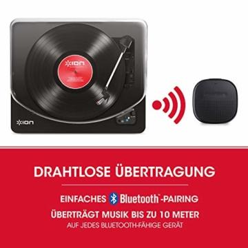 ION Audio Air LP -  USB Plattenspieler Bluetooth / Schallplattenspieler / Vinyl Player mit drei Geschwindigkeitsstufen und USB Konvertierung in edlem schwarzen Klavierlack - 2
