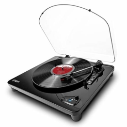 ION Audio Air LP -  USB Plattenspieler Bluetooth / Schallplattenspieler / Vinyl Player mit drei Geschwindigkeitsstufen und USB Konvertierung in edlem schwarzen Klavierlack - 1