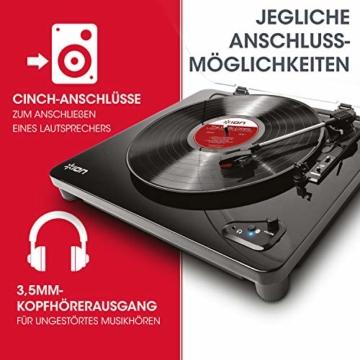 ION Audio Air LP -  USB Plattenspieler Bluetooth / Schallplattenspieler / Vinyl Player mit drei Geschwindigkeitsstufen und USB Konvertierung in edlem schwarzen Klavierlack - 4