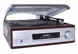 Karcher KA 8050 Plattenspieler mit eingebauten Lautsprechern silber - 1