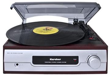 Karcher KA 8050 Plattenspieler mit eingebauten Lautsprechern silber - 2