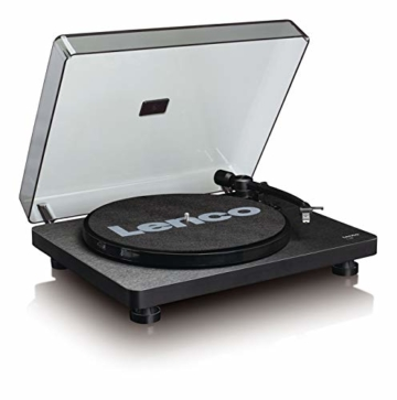 Lenco L-30 Turntable with Auto-Stop and PC encoding - Schwarz - 2