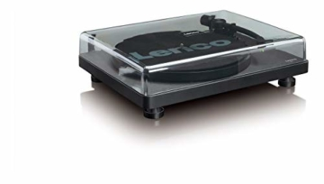 Lenco L-30 Turntable with Auto-Stop and PC encoding - Schwarz - 3