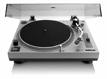 Lenco L-3808 USB DJ-Plattenspieler mit Direktantrieb - 33/45 U/min - Pitch-Control - Magnet-Tonabnehmer-System - Nadelbeleuchtung - Digitalisierung via PC - Staubschutzhaube - weiß - 5