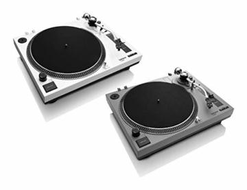 Lenco L-3808 USB DJ-Plattenspieler mit Direktantrieb - 33/45 U/min - Pitch-Control - Magnet-Tonabnehmer-System - Nadelbeleuchtung - Digitalisierung via PC - Staubschutzhaube - weiß - 7