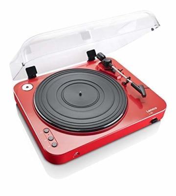Lenco L-85 USB Direct Recording Turntable - Rot - 3