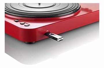 Lenco L-85 USB Direct Recording Turntable - Rot - 5