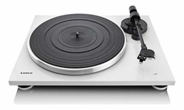 Lenco L-87WH Aluminium Slimline Plattenspieler - MP3 Konvertierung - Weiss - 1