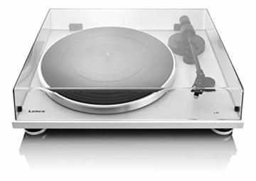 Lenco L-87WH Aluminium Slimline Plattenspieler - MP3 Konvertierung - Weiss - 3