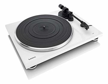 Lenco L-87WH Aluminium Slimline Plattenspieler - MP3 Konvertierung - Weiss - 4