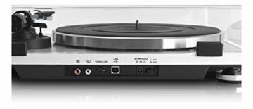 Lenco L-87WH Aluminium Slimline Plattenspieler - MP3 Konvertierung - Weiss - 6