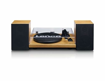 Lenco LS-500 - Hi-Fi Plattenspieler mit Bluetooth - Mit externen Lautsprechern 2 x 30 W RMS - Riemenantrieb - Auto-Stopp - Vorverstärker - MDF-Gehäuse - Eiche - 1