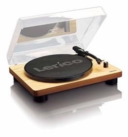 Lenco Plattenspieler LS-50 mit USB-Anschluss, im Holzgehäuse mit eingebauten Lautsprechern und integriertem Verstärker - 1